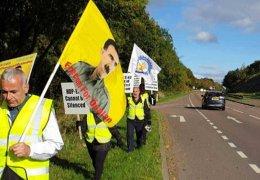 Langer Marsch gegen Repression in Schottland