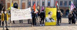 Fransa'da baskın ve gözaltılara protesto