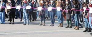 Amed'de kadın zinciri eylemi