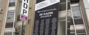 İstanbul Sözleşmesi pankartına da 'yasak'