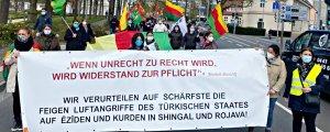 Avrupa'da Kürtler işgale karşı alanlarda