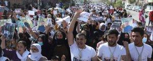 Şengal'de protesto yürüyüşü