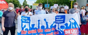 Almanya'da sağlıkçılar eylemde