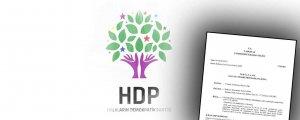 HDP iddianamesi verilmiyor