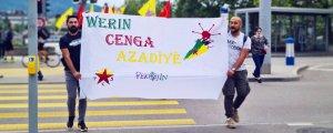 """Gençlerden """"Werin Cenga Azadiyê"""" eylemleri"""