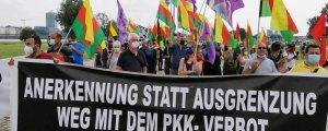 Düsseldorf'ta polis yasası protesto edildi