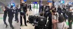 Alman polisi barış heyetine saldırdı