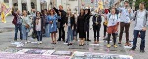 Brüksel'de İstanbul Sözleşmesi için eylem