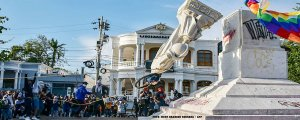 Sömürgeci Kolomb'un heykelini devirdiler