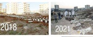 Efrîn'deki dörtşehitliği de yıktılar