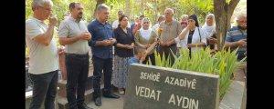 Vedat Aydın'ın mezarı başında anma