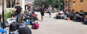 Mülteci kampında korona salgını