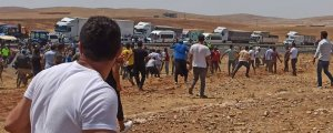 Çiftçilere gaz bombalı saldırı