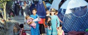 Göçmenler çadır kurdu