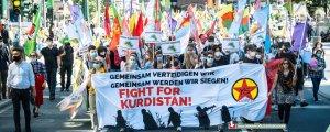 Düsseldorf'ta işgale karşı direniş mesajı