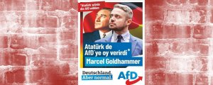 Alman faşistlerden Atatürk'lü seçim afişi