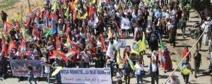 KDP saldırıları protesto edildi