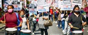 Arjantin'de binler yoksulluğa karşı yürüdü