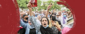 Tunus'ta Said karşıtı protesto