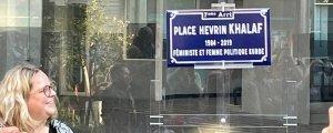 Lyon'da Hevrîn Xelef meydanı