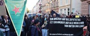 Zapatistalar Frankfurt'ta Kürtlerle buluştu