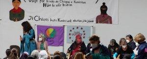 Zapatistalı kadınlar Kürt kadınlarıyla buluştu
