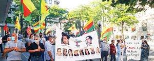 Kiel'de işgal ve tecrit protestosu