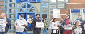 Londra'da çetelere karşı eylem