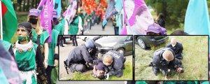 Polis gençlere saldırdı