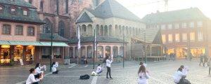 Genç kadınlar Mainz'de eylemdeydi
