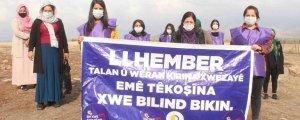 Umweltprotest von Frauen in Şirnex