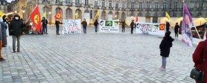 Bordeaux'da Öcalan'a özgürlük eylemi