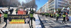 Düsseldorf'ta Öcalan'a özgürlük yürüyüşü