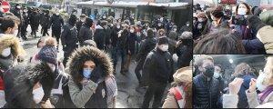 Açıklamaya polis ablukası