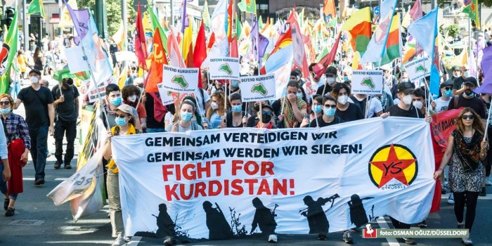 Düsseldorf'ta işgal saldırıları protesto edildi