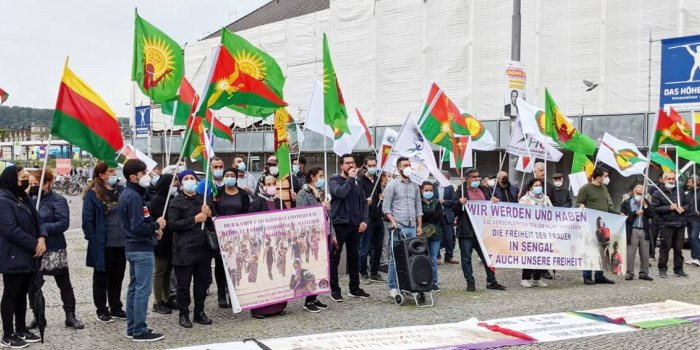 Şengal saldırısı protesto edildi