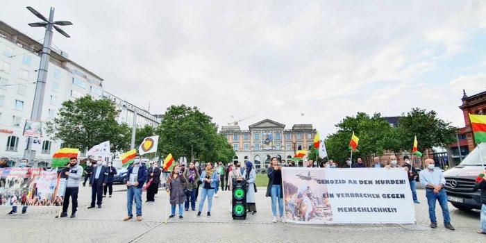 Şengal katliamı Bremen'de protesto edildi