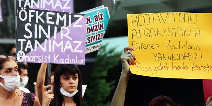 Ankara'da Afganistanlı kadınlarla dayanışma eylemi düzenlendi
