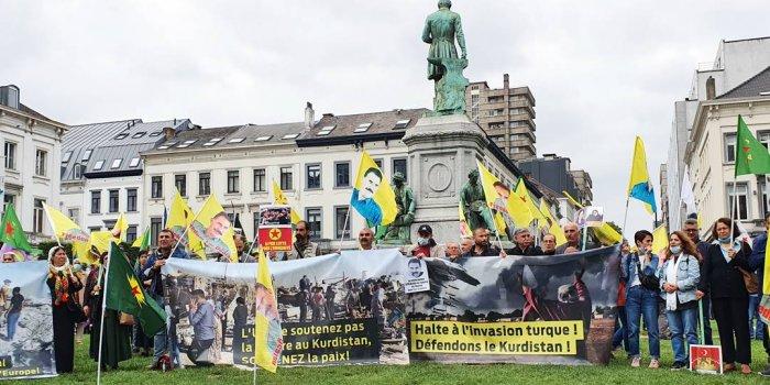Brüksel'de işgal saldırıları protesto edildi